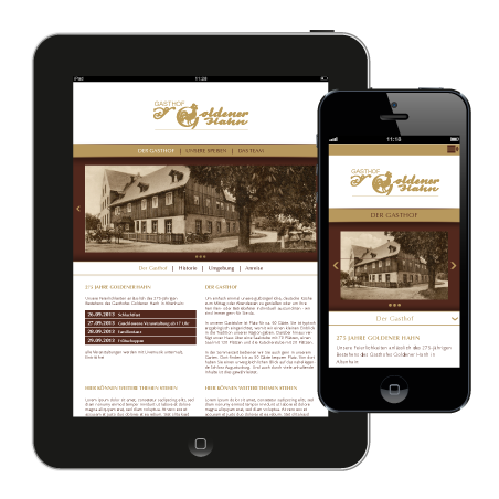 Gasthof Goldener Hahn - Website