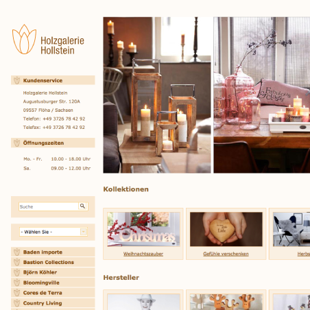 Holzgalerie Hollstein - Website