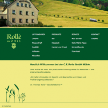 Rolle Mühle GmbH - Website